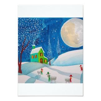 SNOW SCENE FOLK SHEEP MOON ANNOUNCEMENT