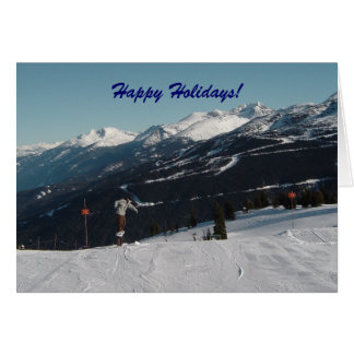 Snow Scene in Whistler, B.C. Card