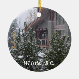 Snow Scene in Whistler, B.C. Ceramic Ornament