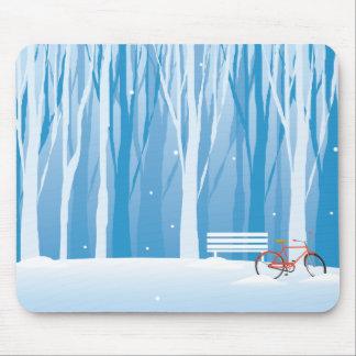 Snow Scene Mouse Pad