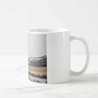 snow scene basic white mug
