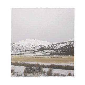 snow scene note pad