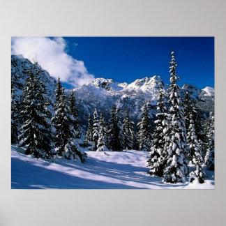 Snow Scene Winter Mountains Print