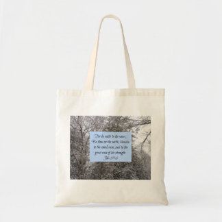 Snow Scripture Tote Bag