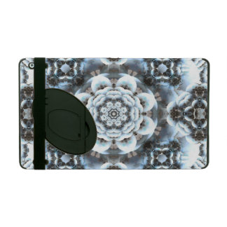 Snow Serenity Mandala iPad Folio Case
