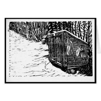 Snow Shed Notecards Card