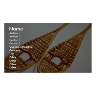Snow shoes business card template