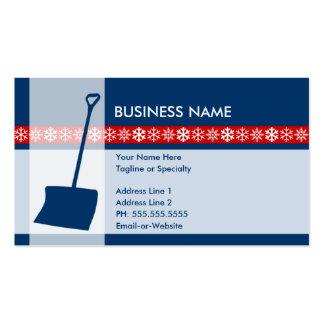 snow shovel elegance business card template