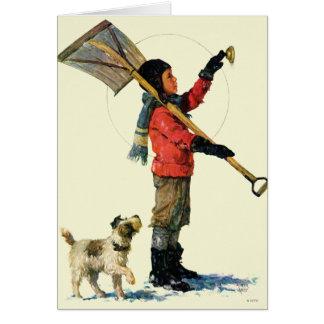 Snow Shoveler Card
