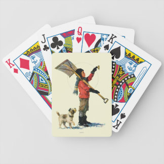 Snow Shoveler Playing Cards