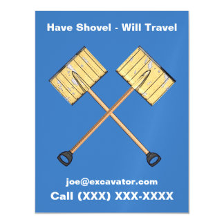 Snow Shoveling Business Magnetic Invitations