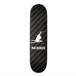 Snow Ski; Black & Dark Gray Stripes 19.7 Cm Skateboard Deck