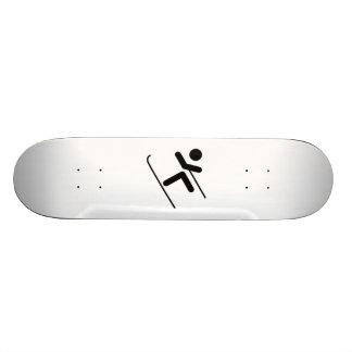 Snow Skier Skateboard Deck