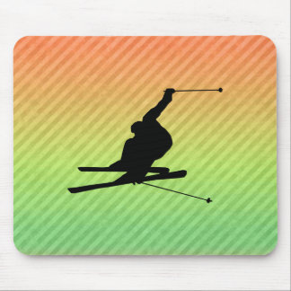 Snow Skiing Mouse Pads