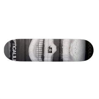 Snow skull board skate deck