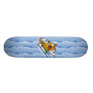 Snow Sledding Dog 19.7 Cm Skateboard Deck