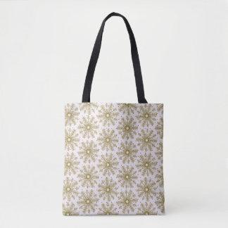 Snow Snowflake Decorative Winter Tote Bag