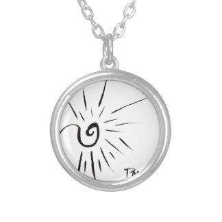 Snow Spark Round Pendant Necklace