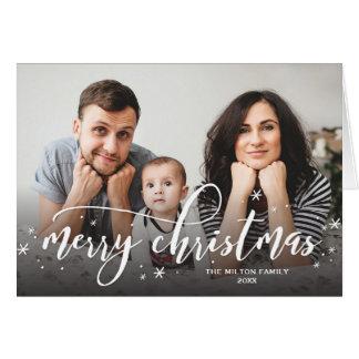 Snow Sprinkle Whimsical Christmas Photo Greeting Card
