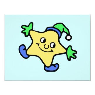 "Snow Star 4.25"" X 5.5"" Invitation Card"