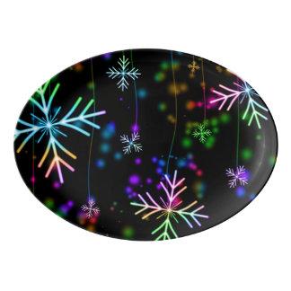 Snow Star Porcelain Serving Platter