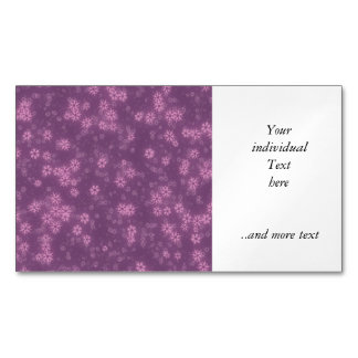 Snow stars lilac magnetic business cards