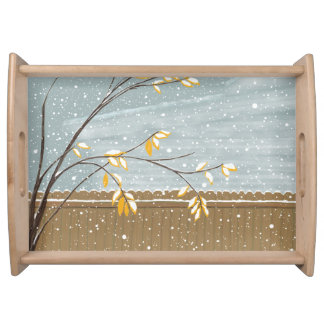 Snow Storm & Tree Serving Tray