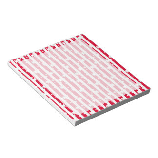 Snow Stripes Red Notepad
