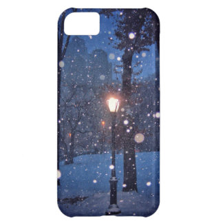 Snow Swirling Around A Streetlamp iPhone 5C Case