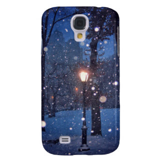 Snow Swirling Around A Streetlamp Samsung Galaxy S4 Case