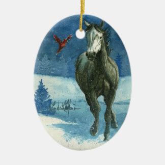 Snow Tag Christmas Ornament