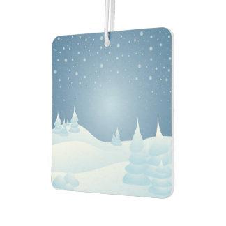 Snow Tipped Trees Car Air Freshener