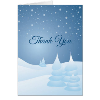 Snow Tipped Trees Card