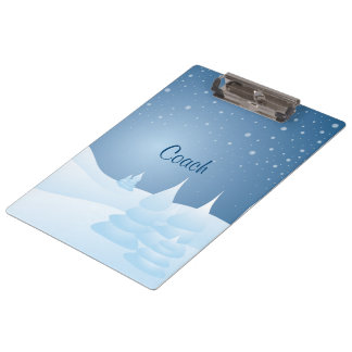 Snow Tipped Trees Clipboard