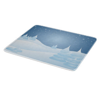 Snow Tipped Trees Cutting Board