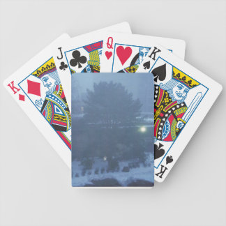 snow tree scene playing cards deck