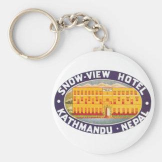Snow View Hotel Kathmandu Nepal Keychain