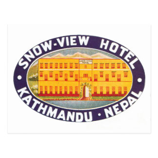 Snow View Hotel Kathmandu Nepal Postcard