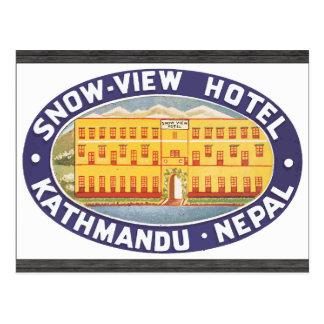 Snow-View Hotel Kathmandu Nepal, Vintage Postcard