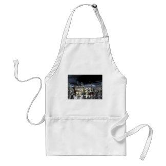 snow village standard apron