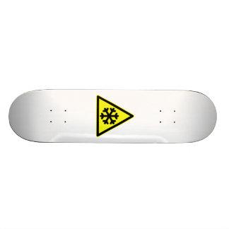 Snow Warning Sign Skate Board Deck