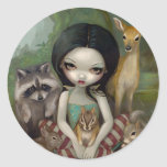 """""""Snow White and Her Animal Friends"""" Sticker"""
