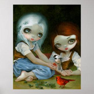 Snow White and Rose Red art print Jasmine Becket