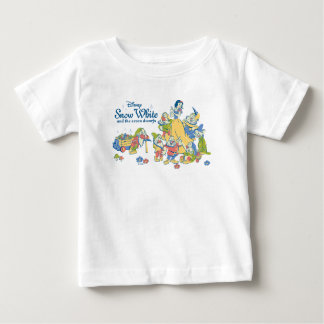 Snow White and the Seven Dwarfs taking a Break Baby T-Shirt