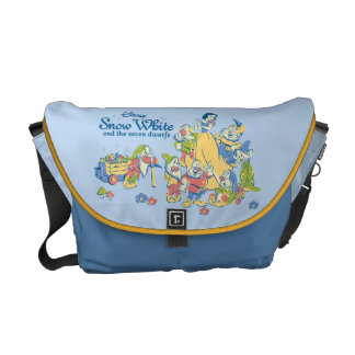 Snow White and the Seven Dwarfs taking a Break Courier Bag