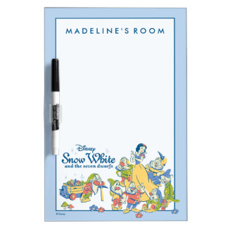 Snow White and the Seven Dwarfs taking a Break Dry Erase Board