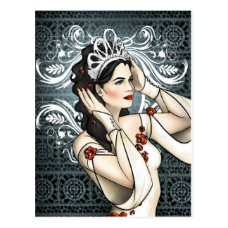 Snow White Beauty Queen With Tiara Postcard