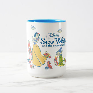 Snow White & Dopey with Friends Two-Tone Coffee Mug