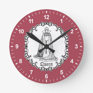 Snow White | Evil Queen - Vintage Villain Round Clock