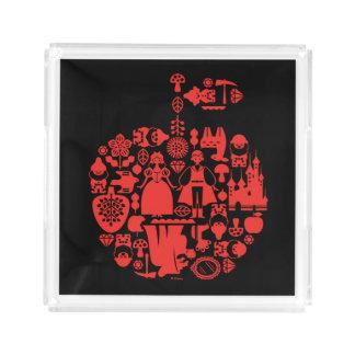 Snow White & Friends Apple Acrylic Tray